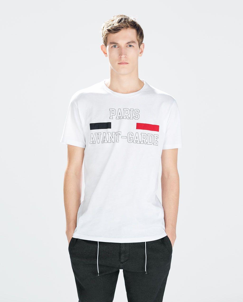 T Manches CourtesShirt Zara Shirt Homme DE9W2YHI