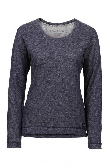 ffe7410ad16c43 recolution organic Sweater Frauen grau gesprenkelt fair trade Pullover Bio  Baumwolle