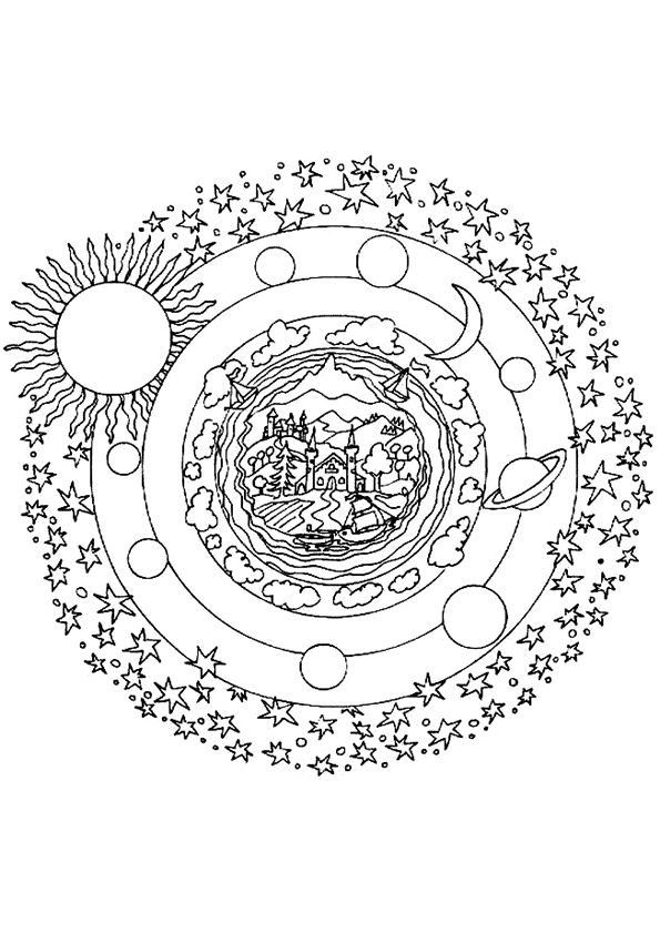 Mandala Kleurplaten Coloring Pages Pinterest Coloring Pages