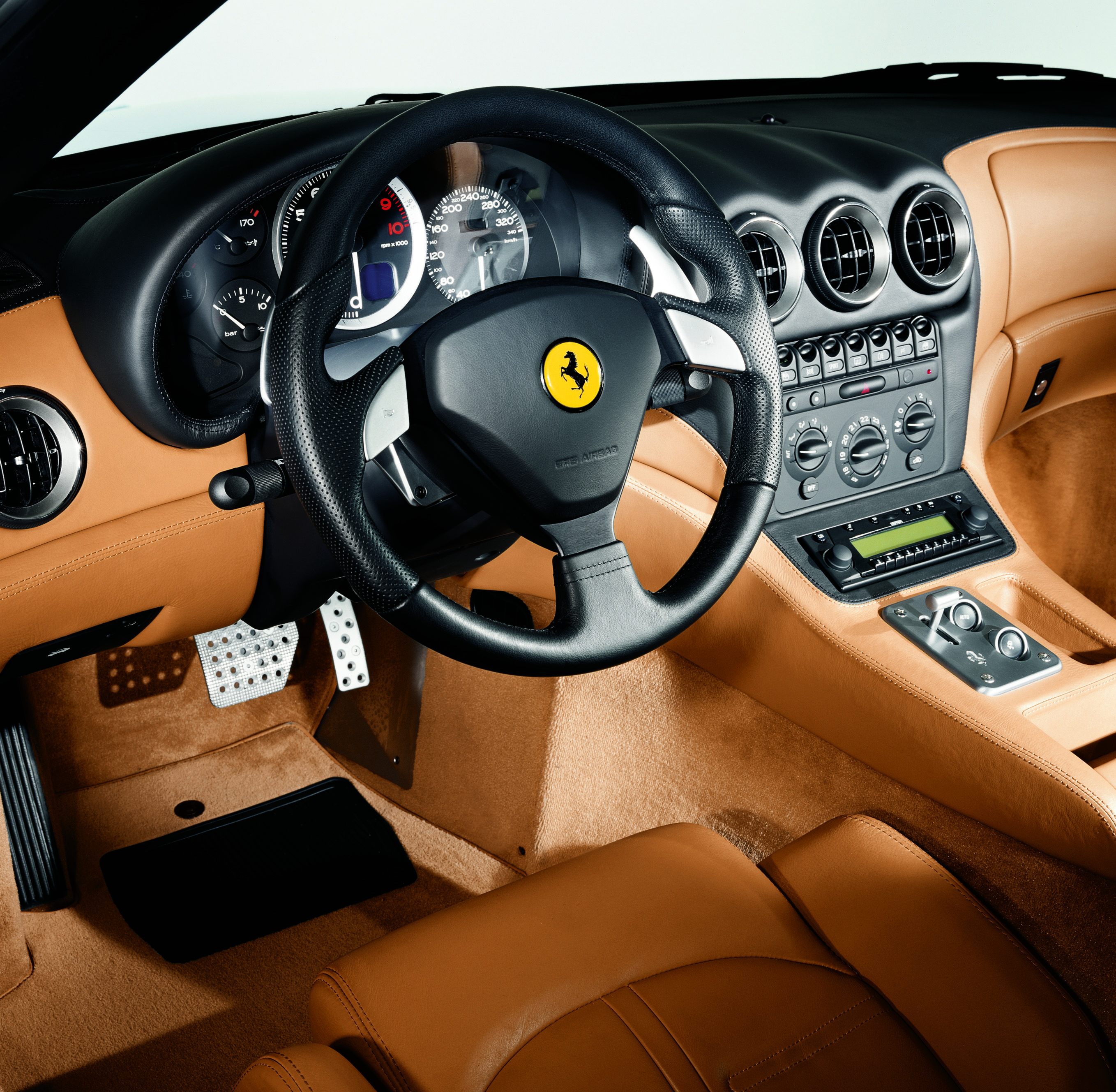 Ferrari 575 M Maranello Interior Factory Issued Press Photo Geneva 3 2003