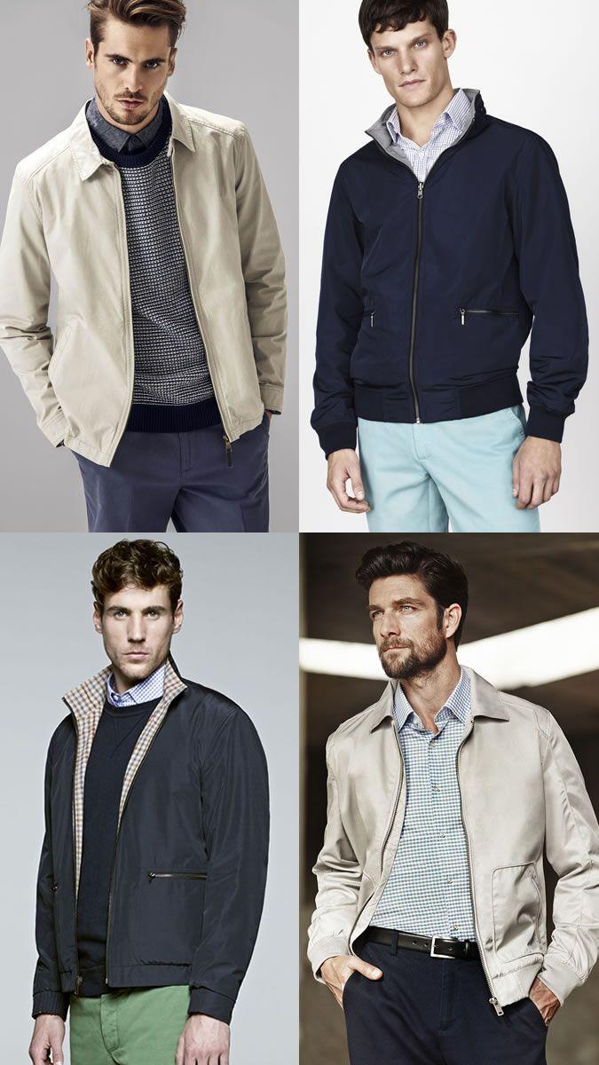 Men S Ways To Layer Between Summer Autumn Harrington Jacket