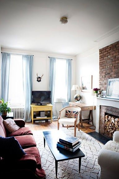 long small living room + tv placement | Small Living Rooms ...