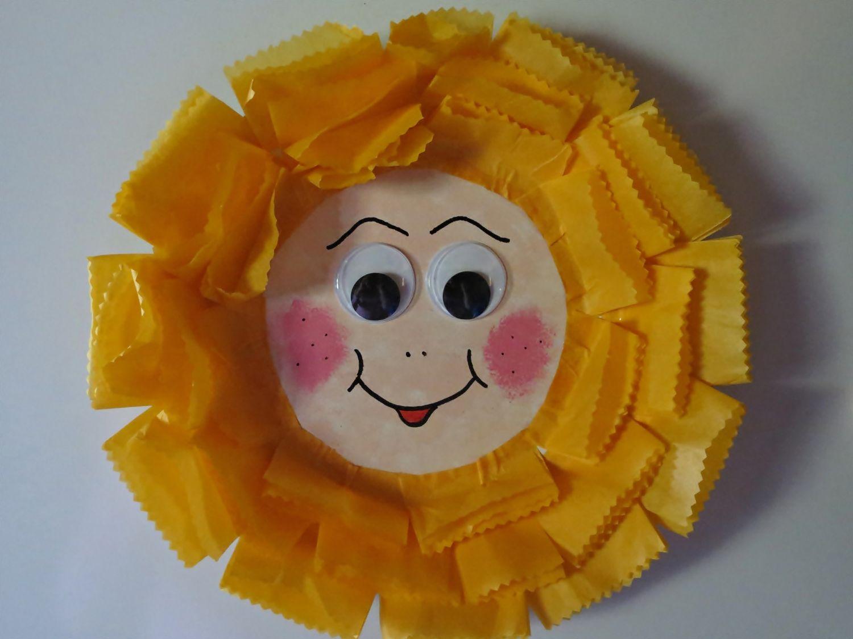 Paper Plate Sunflower Fridge Magnet & Paper Plate Sunflower Fridge Magnet | Sunflowers Magnets and Craft