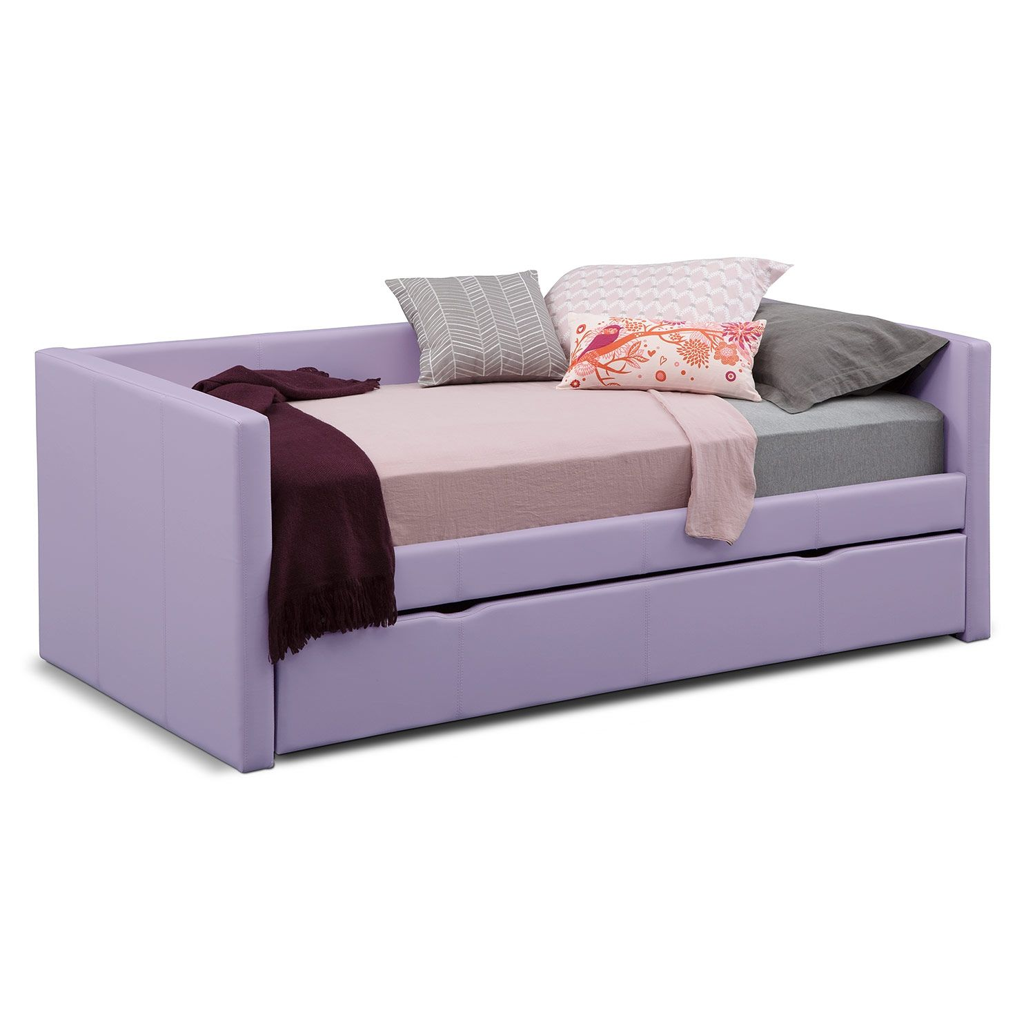 Amazing Purple Daybed With Pop Up Trundle Bed Gorgeous Designs