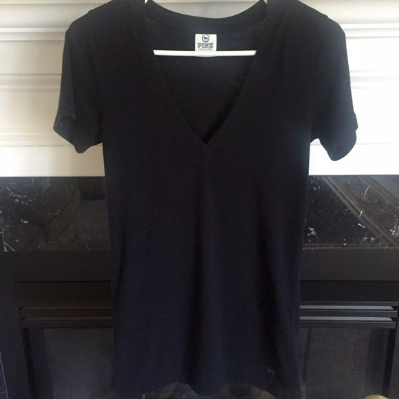 Victoria's Secret Pink T Used but in good condition! Priced to sell! No stains or rips! V neck PINK Victoria's Secret Tops Tees - Short Sleeve