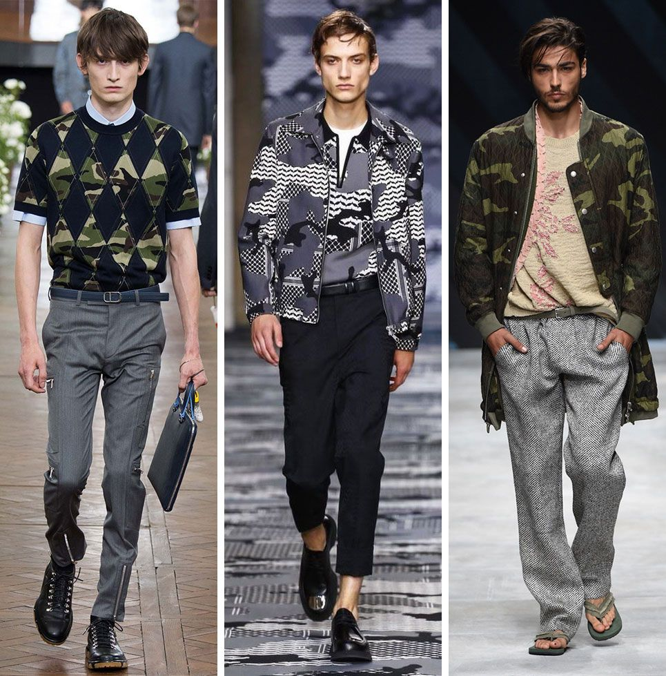 058f5c06eec7b6 Spring-Summer-2016-Menswear-Fashion-Trends -Milan-Paris-Fashion-Week-Camouflage