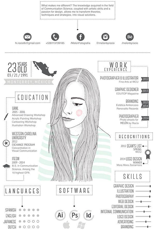 16 Ejemplos de curriculums creativos y profesionales | Infografia ...