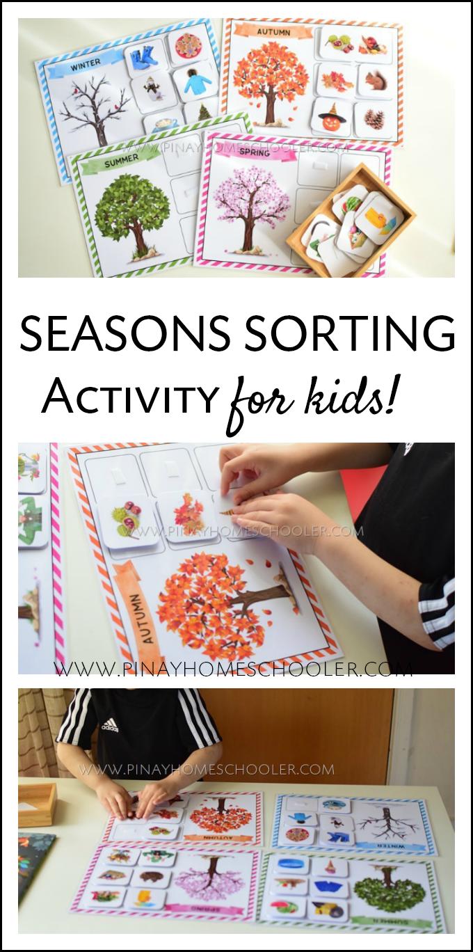 Four Seasons Sorting Activity Seasons Preschool Preschool Activities Montessori Activities [ 1368 x 680 Pixel ]
