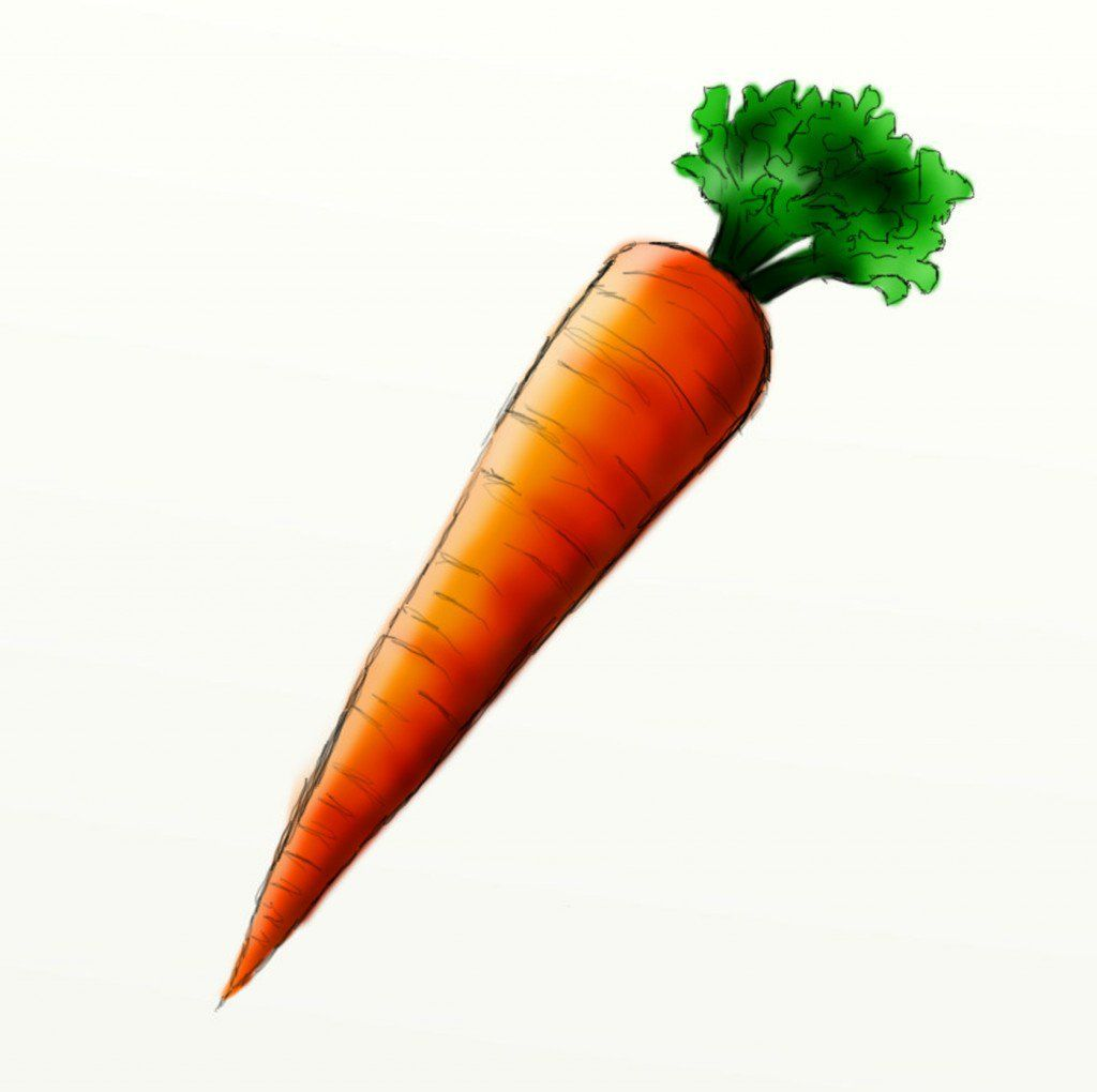 How To Draw A Carrot Carrot Drawing Carrots Crayon