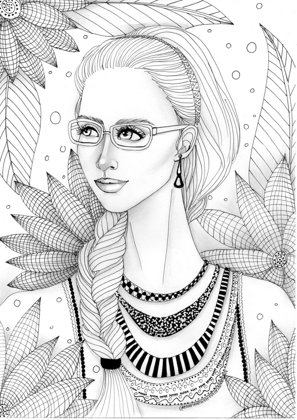 Free Coloring Page By Dinny M S Grayscale Coloring Free Coloring Pages Coloring Pages