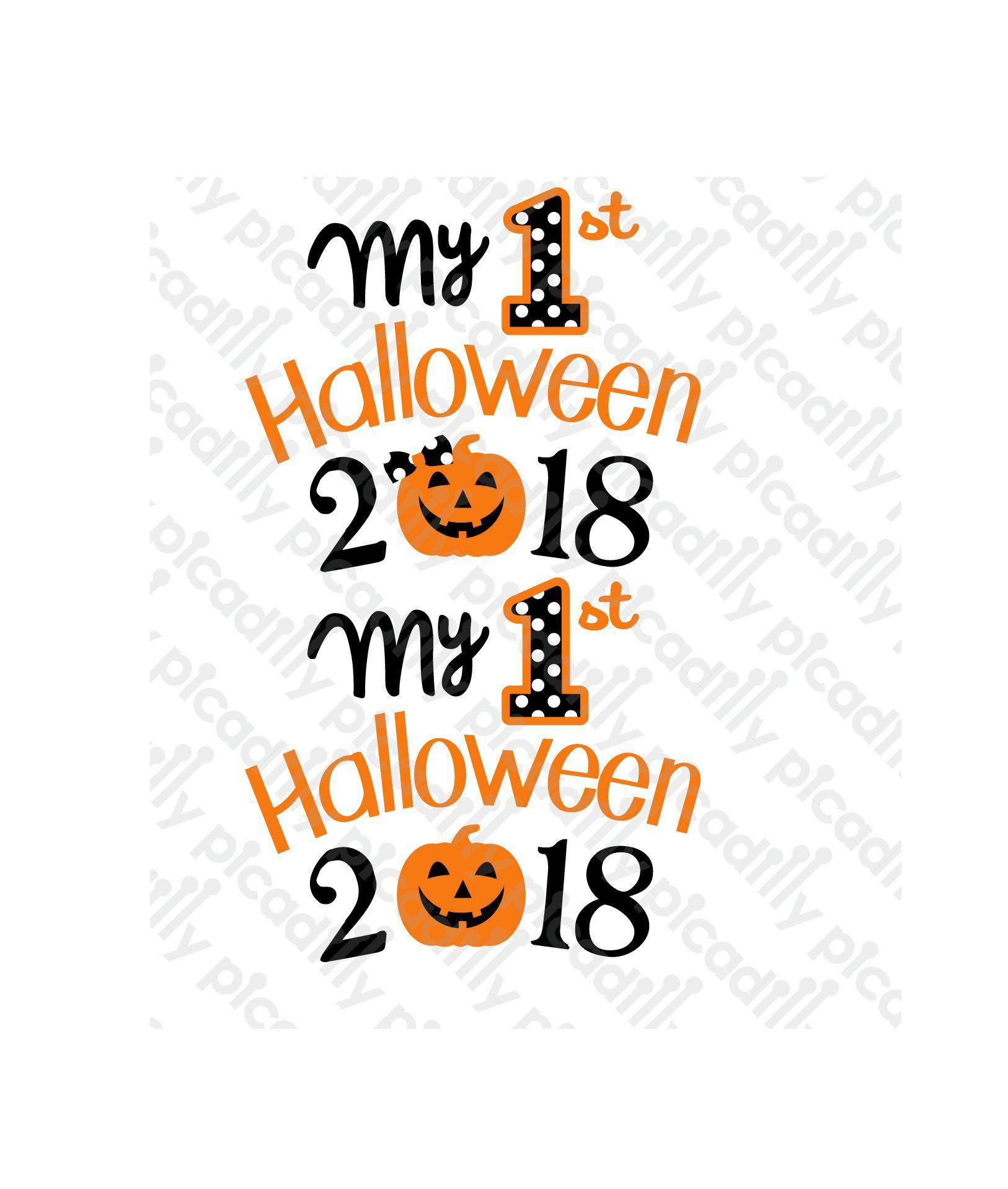 My 1st Halloween Svg Png Pumpkin My 1st Halloween Svg 1st Halloween Clipartp Pumpkin Polka Dot Svg My First Hallow My First Halloween First Halloween Halloween
