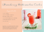 Lovely Libations: Strawberry Watermelon Cooler