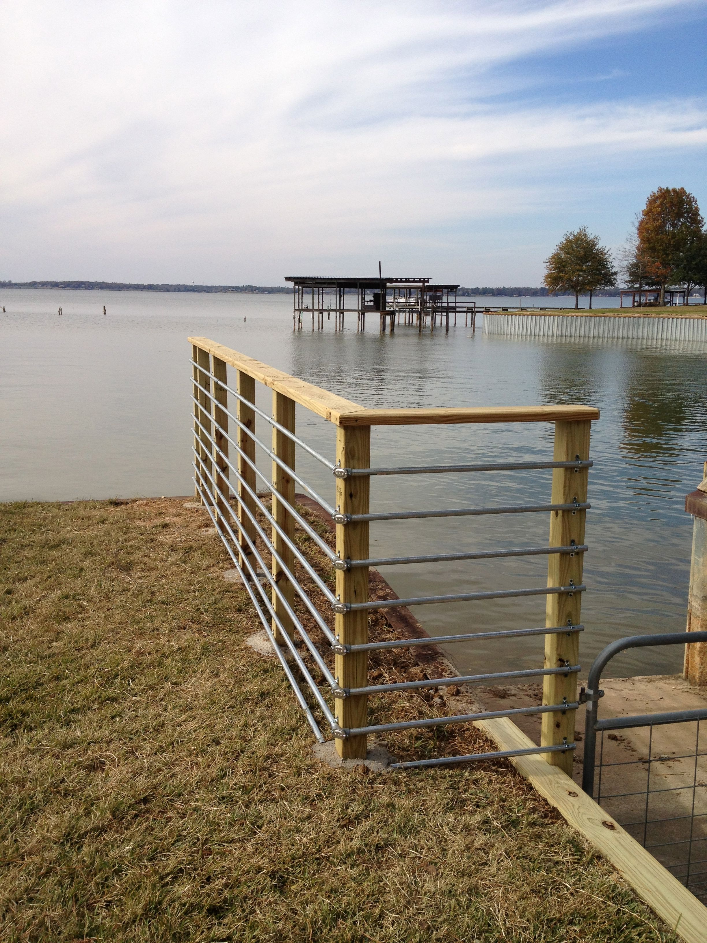 Conduit Railing For A Boat Ramp