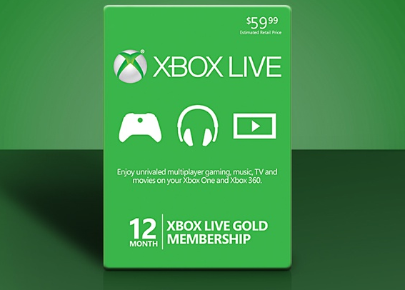 Get a 12-Month Xbox Live Gold Card for $49 99 plus FREE S&H