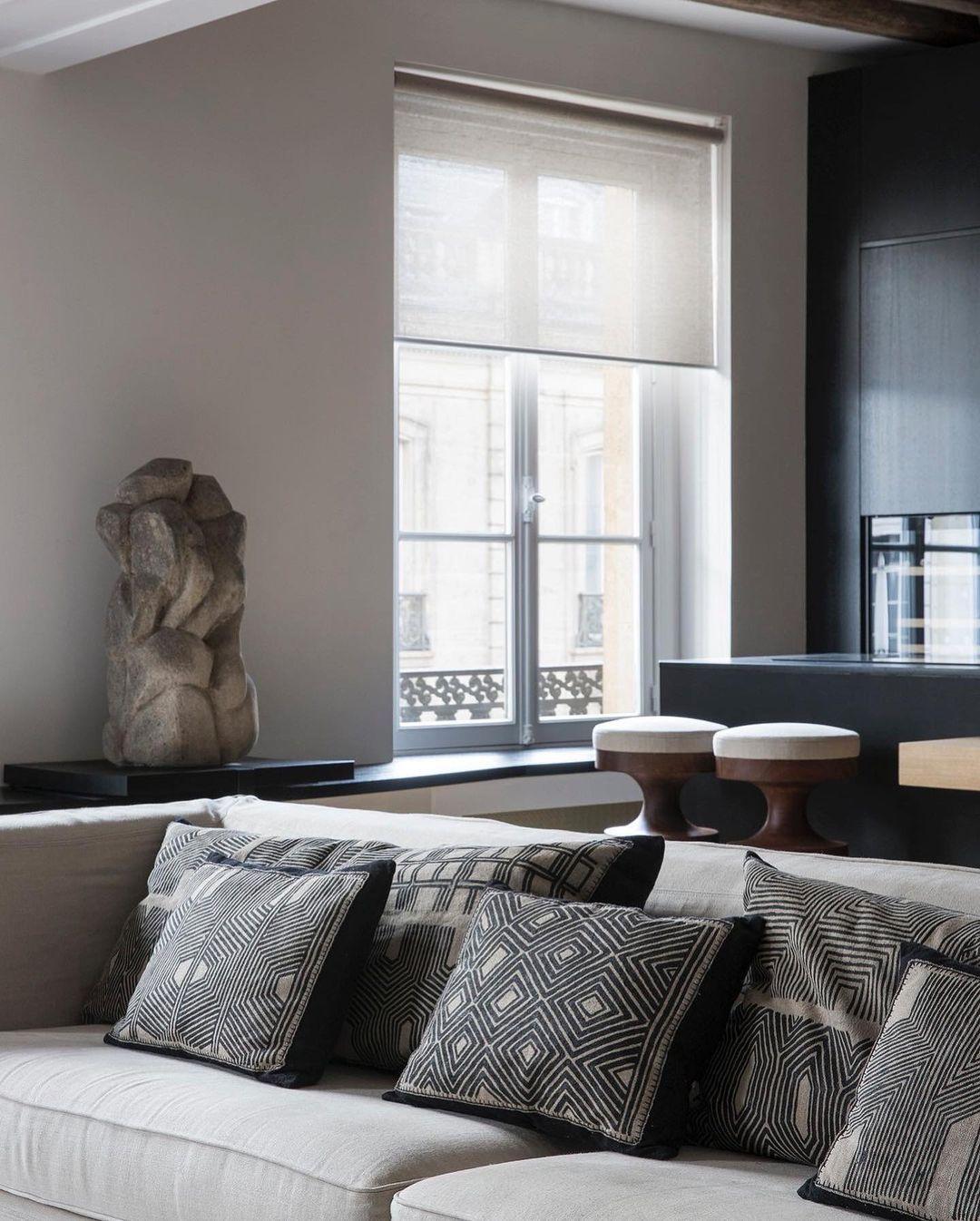 "Kenneth Ling on Instagram: ""Parisian apartment designed by @studio.arthurcasas . . . . Via: @leibal @studio.arthurcasas . . . . #arthurcasas #timeless #frenchmodernism…"""