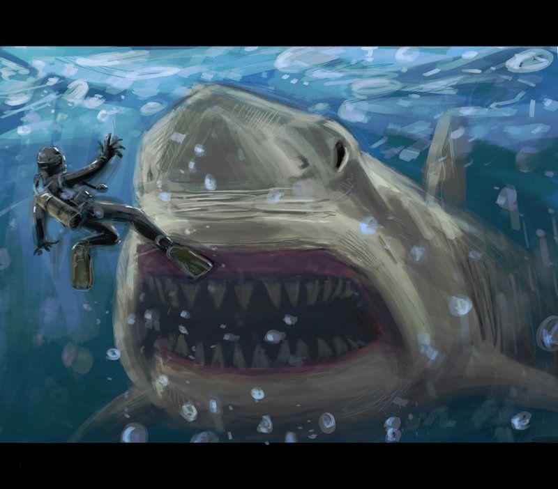 Giant sea monsters art - photo#46