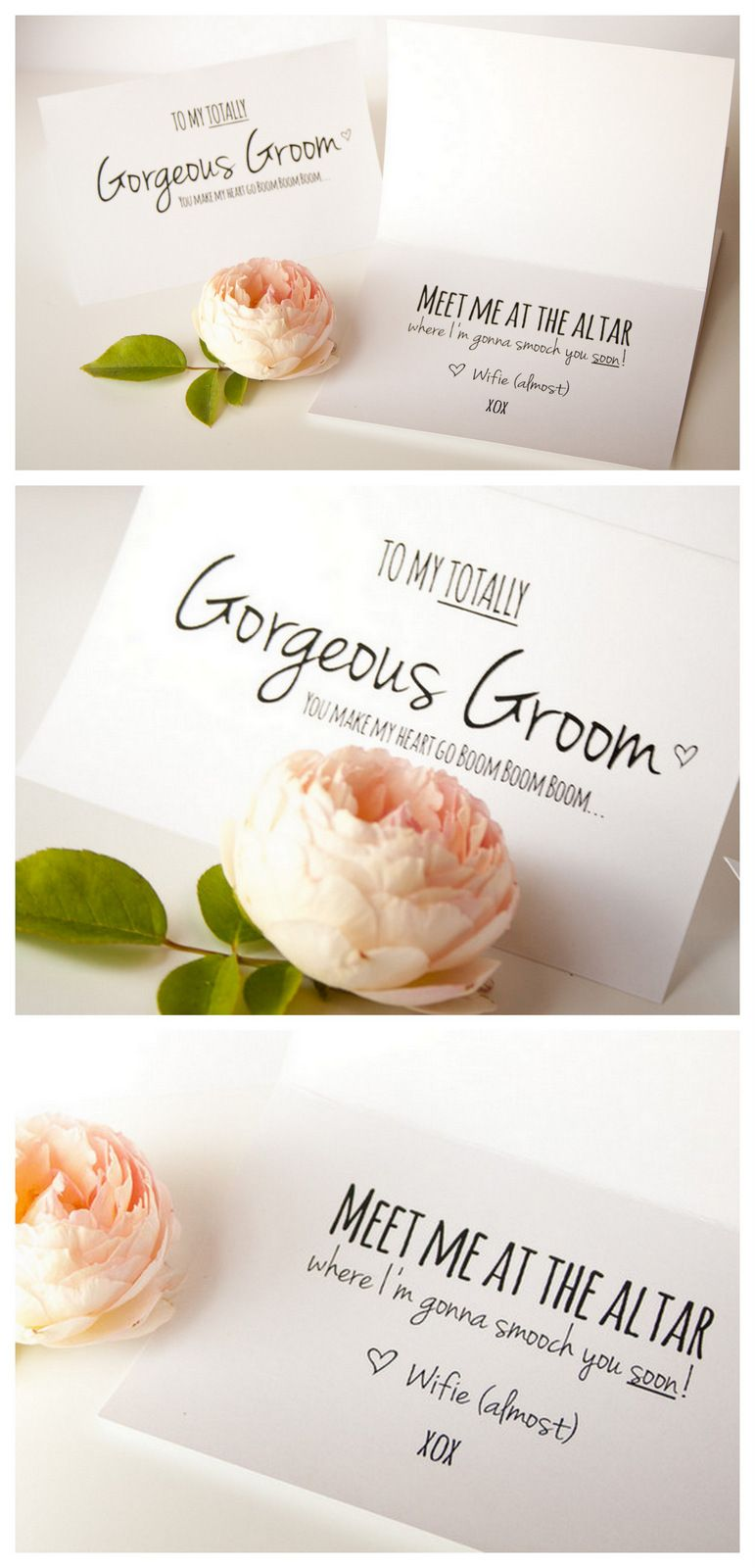 To My Gorgeous Groom Card Printable Free Printable Download is part of Wedding card diy, Wedding planning printables, Wedding gift cards, Groom card, Free wedding printables, Wedding cards - You Make My Heart Go Boom Boom Boom ♥ Today's cute free wedding printable download is for that amazing man you're about to exchange vows with  your absolutely gorgeous groom! It's a super easy DIY project that you can complete