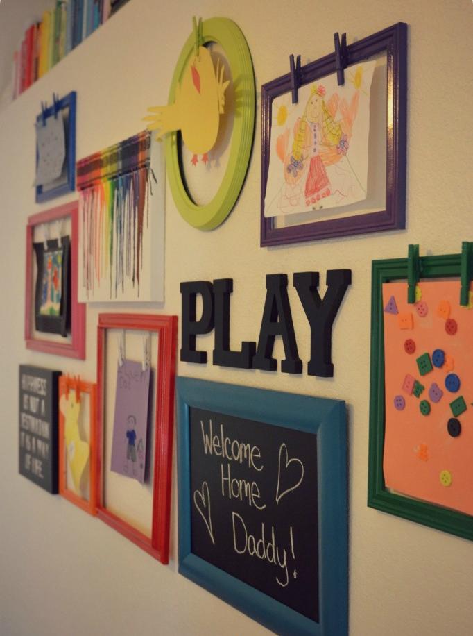 DIY Kids Artwork Display | Artwork display, Crayon art and Gallery wall