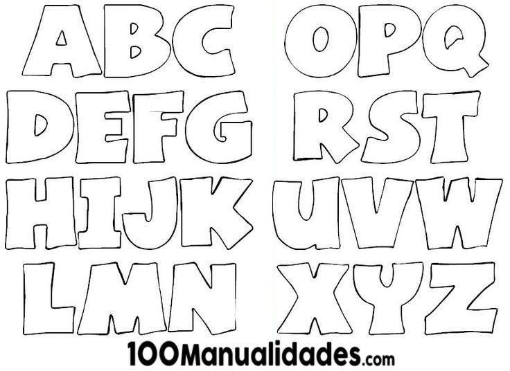 Moldes De Letras Medianas Y Grandes Para Imprimir Gratis Letras