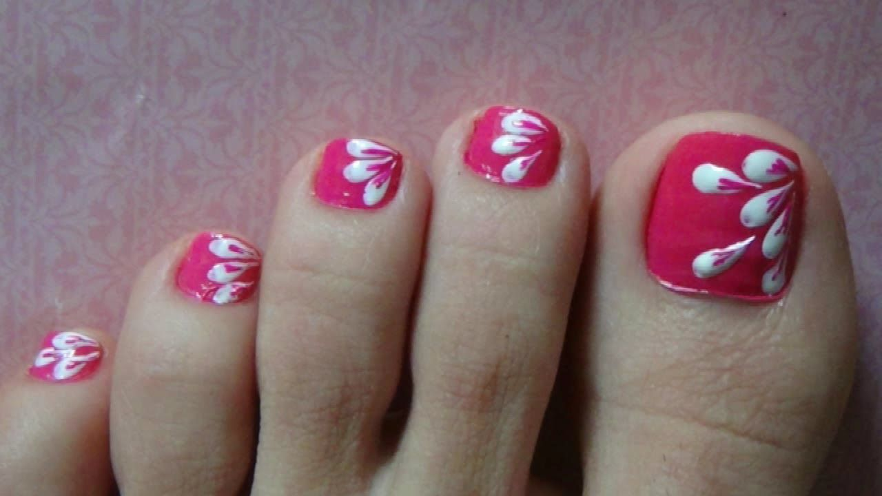 Easy Nail Art For Beginners Simple Cute Toenail Paint Petals