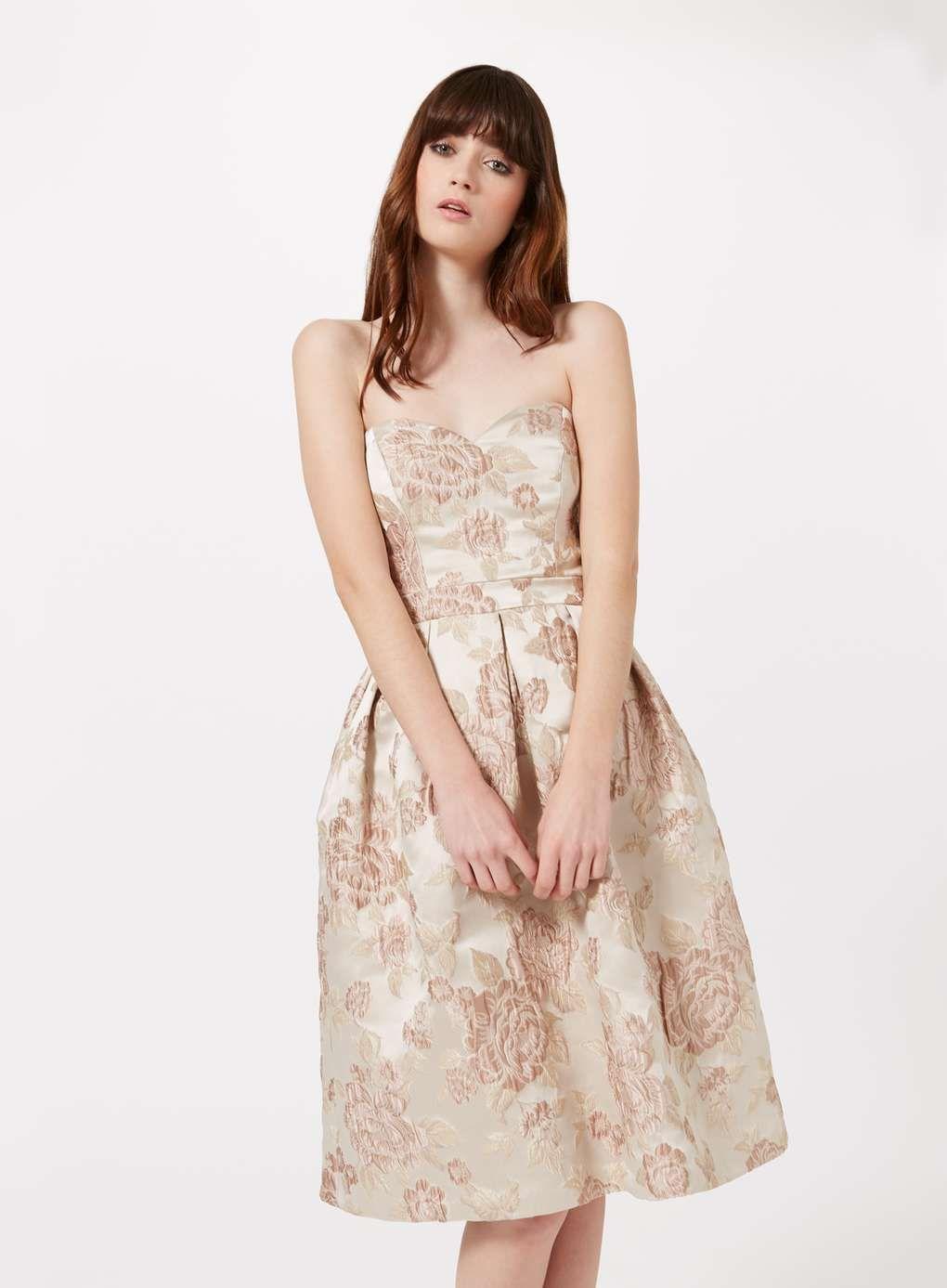 106d8bc17a1e7 Floral Jacquard Midi Dress