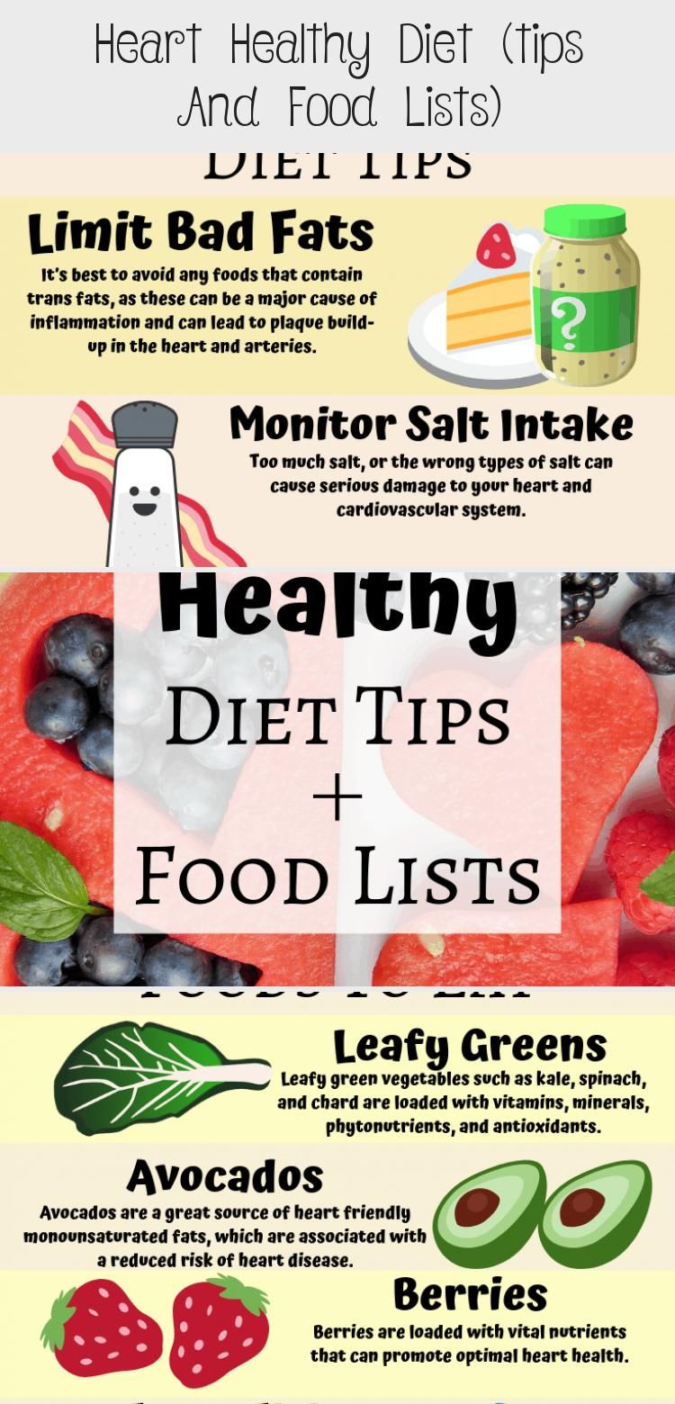 Heart Healthy Diet Tips And Food Lists Diet Healthy Diet Tips Heart Healthy Diet Diet Tips