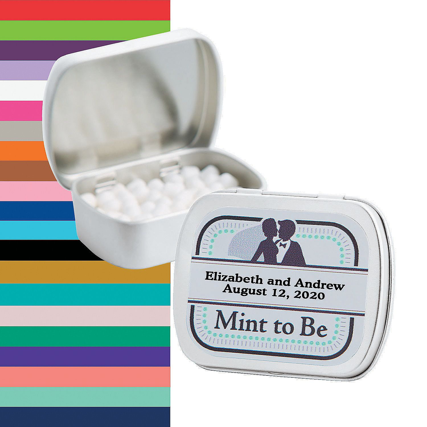 Personalized Mint To Be Wedding Mint Tins Orientaltrading Com