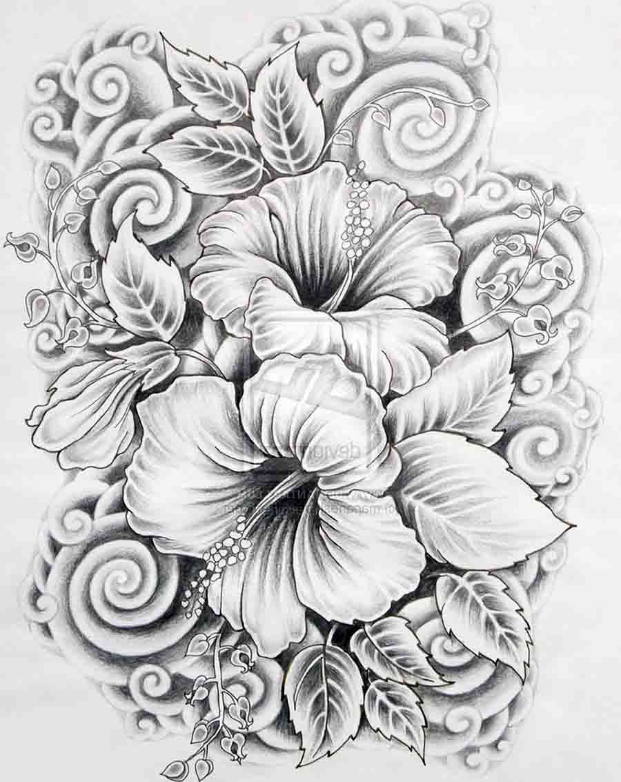 Cool drawings of flowers in pencil
