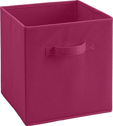 Altra Furniture Cube Square Fabric Bin Storage 12 Inch Pink 12 99 12 99 Furniture Fabric Storage Bins Storage Bins Toy Storage Bins