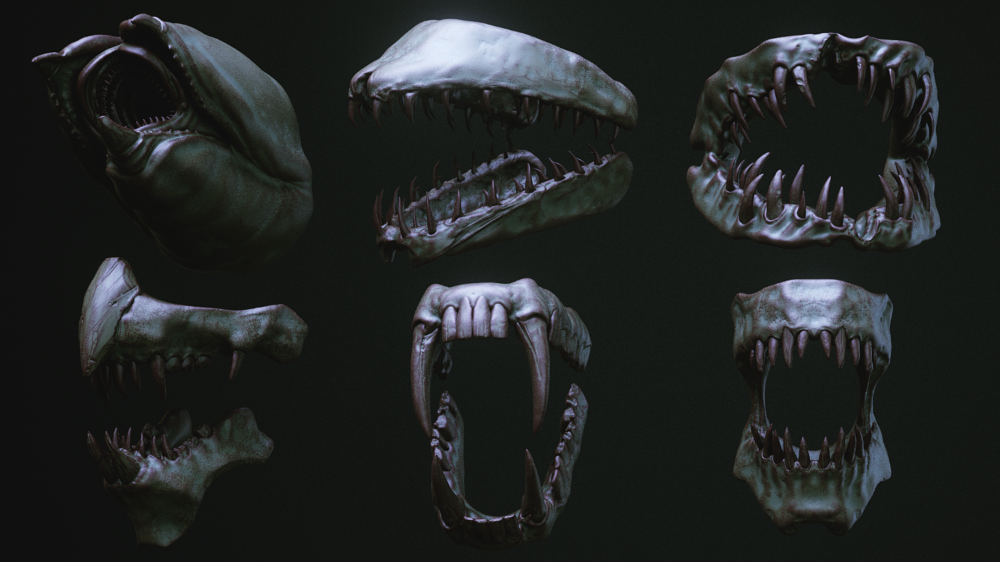 Jaws 33 Monster Mouths Imm Brush Pack On Cubebrush Co Monster Mouth Mouth Monster