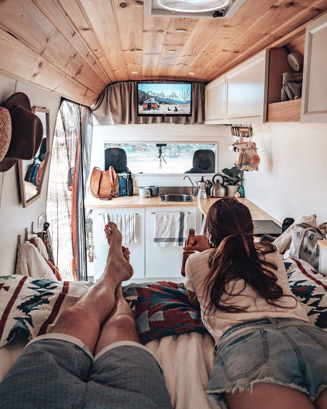 "Photo of caravan interior 376543218849398530 – Bec & Gary ↠ Aussie Vanlifers on Instagram: ""Wait until our"