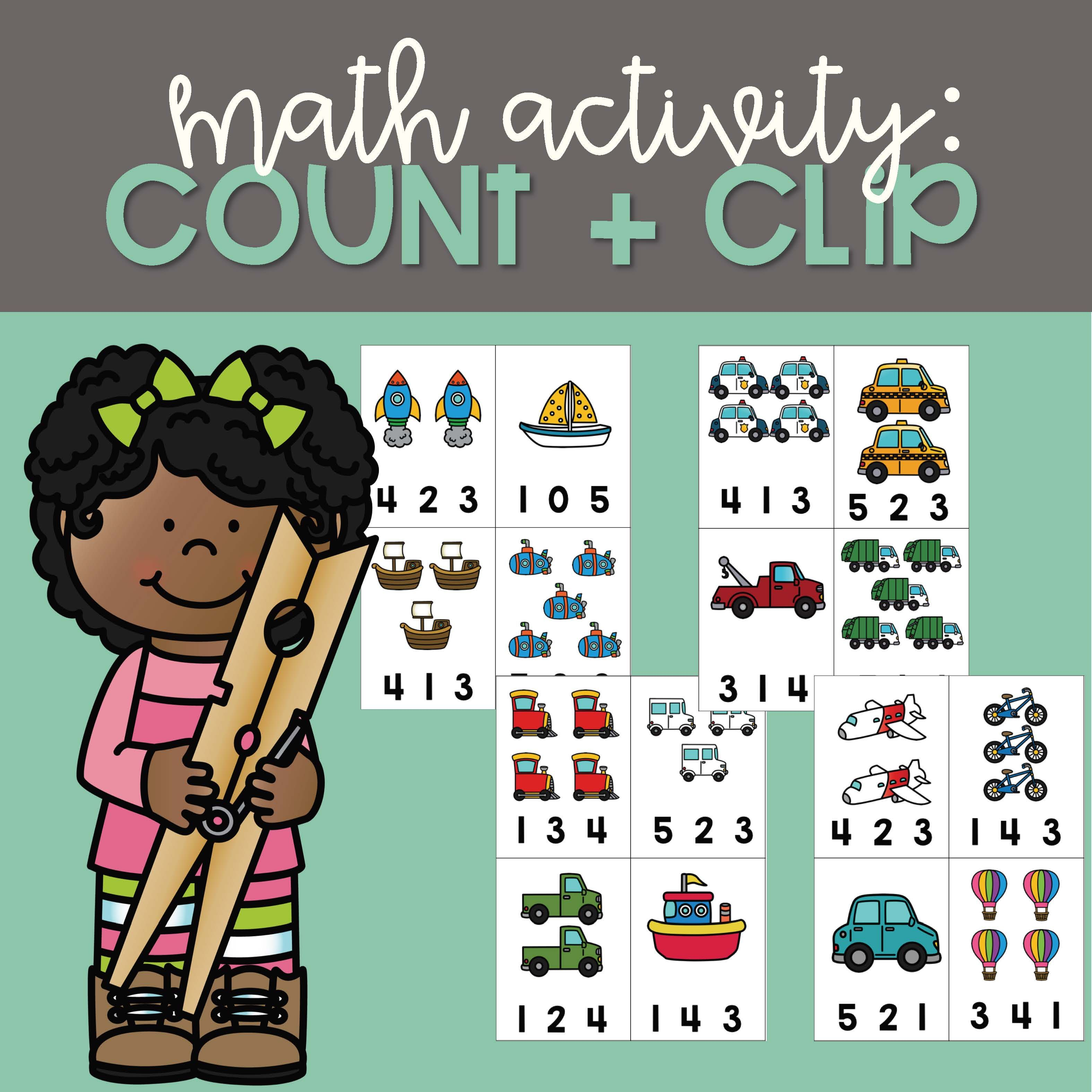Math Activity Count And Clip