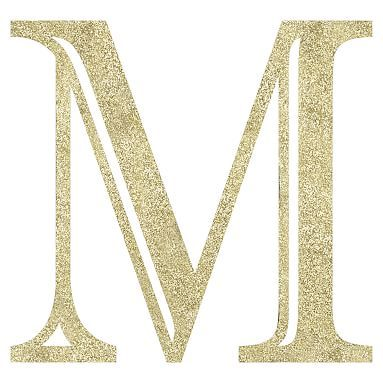 Madison Wall Letters, Glitter Gold, M