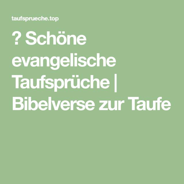 Schöne Evangelische Taufsprüche Bibelverse Zur Taufe
