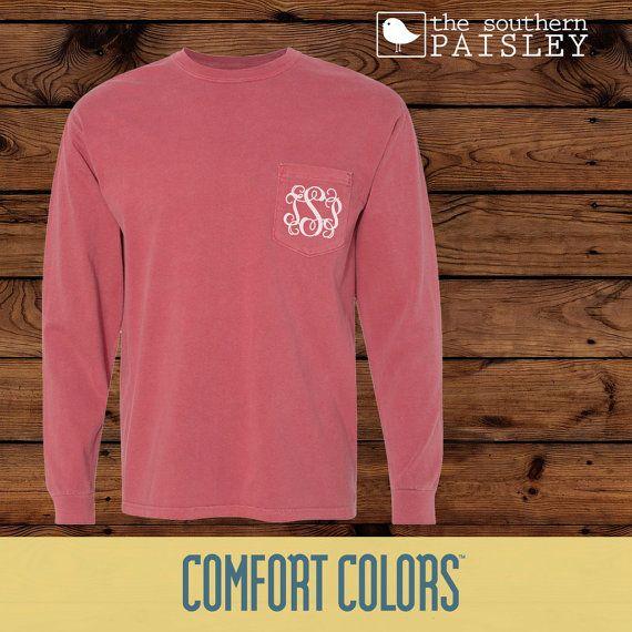 Monogrammed Comfort Colors Sweatshirt - Adult size Pz96WRS9TS