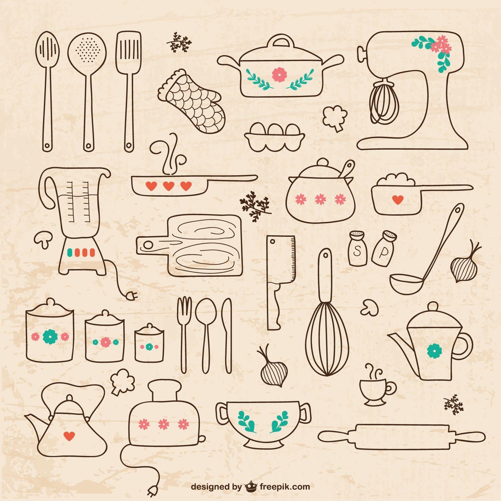 Lista chá de cozinha | Minhas dicas | Pinterest | Doodles, Bullet ...
