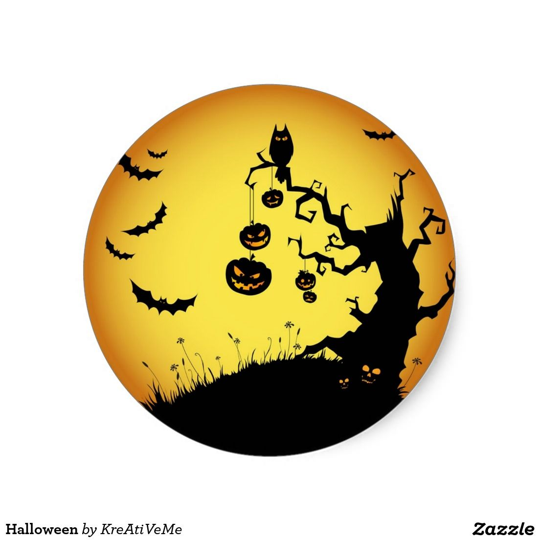 Halloween Classic Round Sticker | Zazzle.com