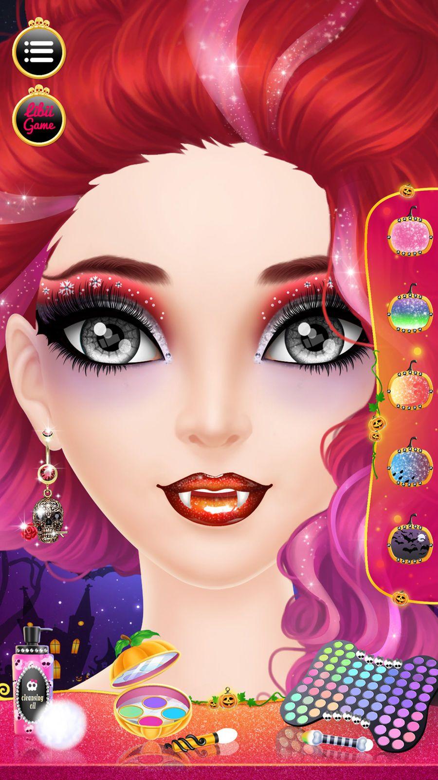 Make up me halloween girls makeup dressup and makeover