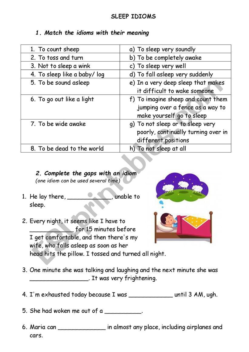 Idiom Esl Worksheet By Zhanel In 2020 Idioms Vocabulary Worksheets Idioms Esl
