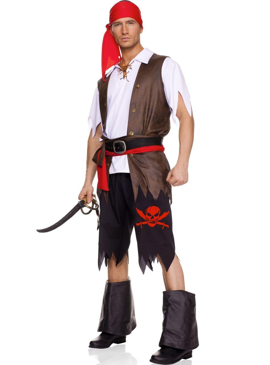 Sexy Music Legs White Black Brown Red Men's Buccaneer Men's Pirate ...