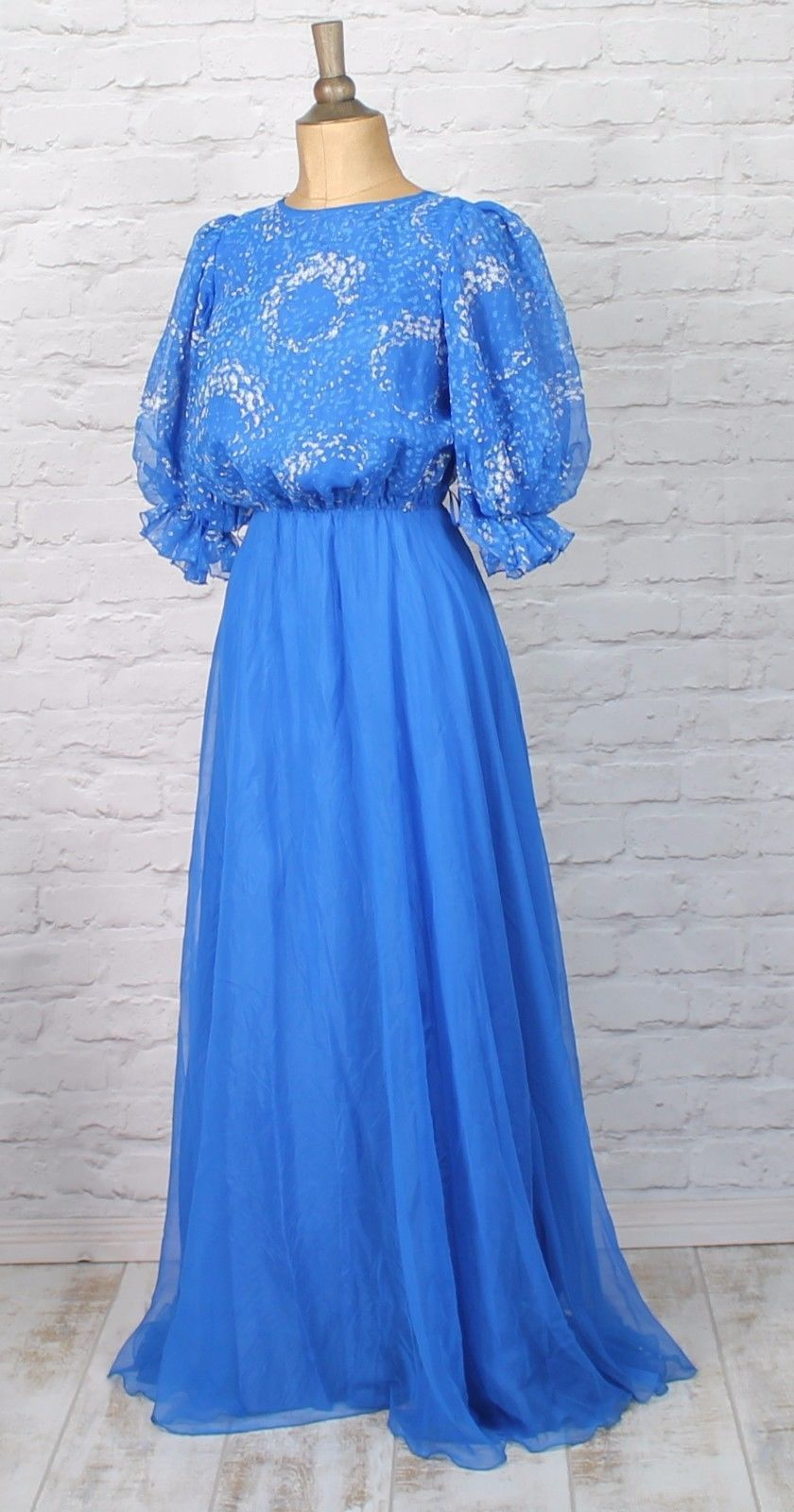 Vintage #dress gown 80s #retro victorian style evening party #wedding boho uk 10,  View more on the LINK: http://www.zeppy.io/product/gb/2/222320590921/