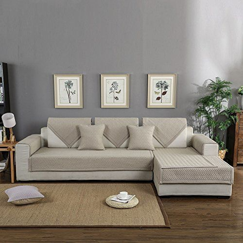 Forcheer Sofa Mats Cotton Non Slip Sofa Cover Sofa Shield Quilted