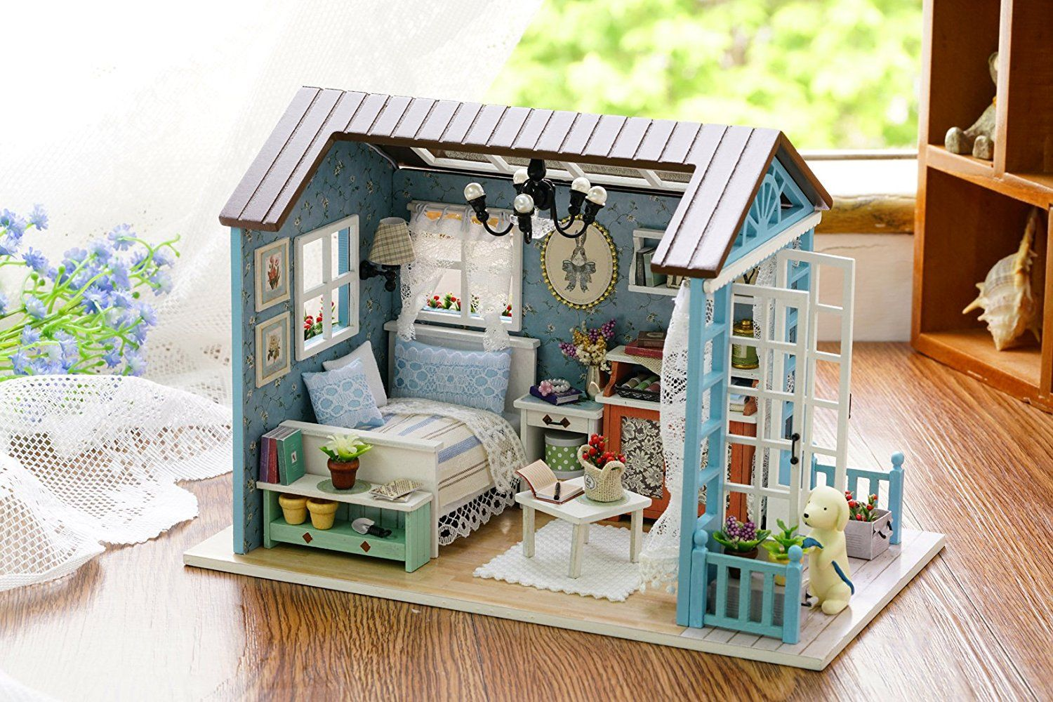 Assembly Wooden 1//24 Scale Miniatures Dollhouse Kit Kids Sky Bedroom Model