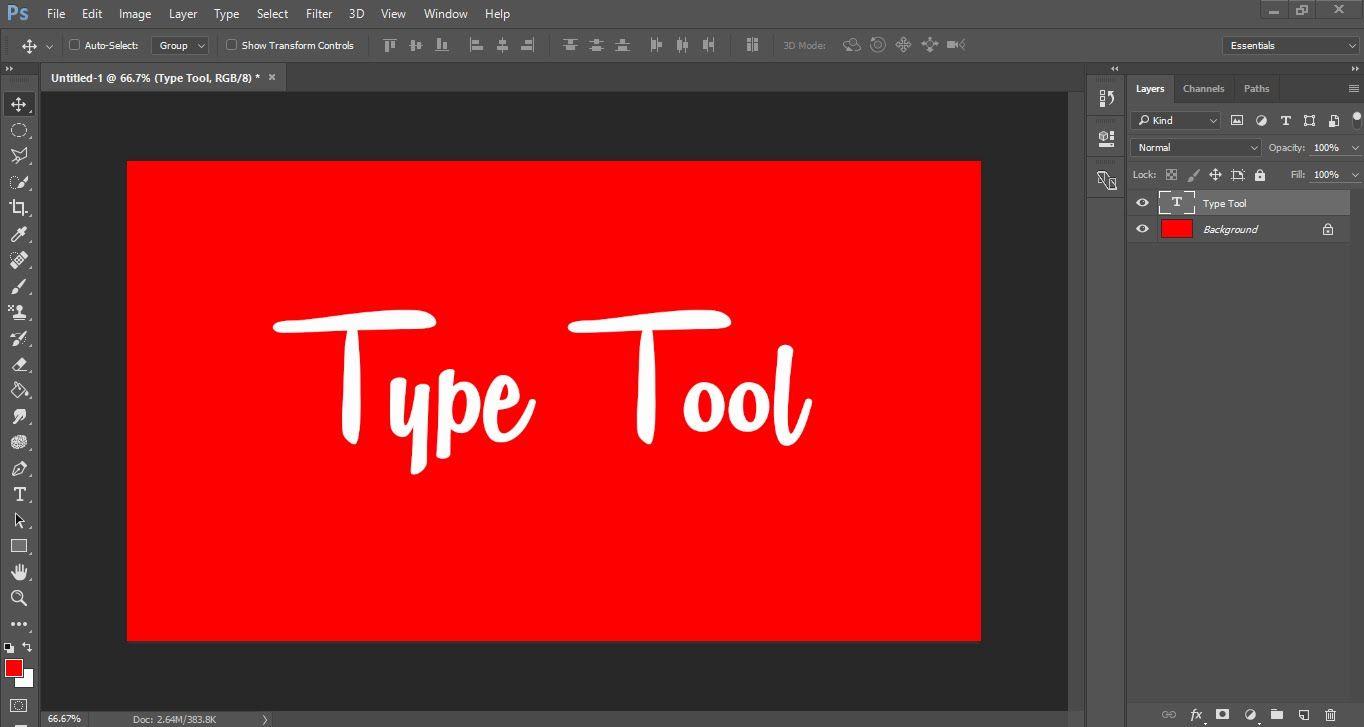 Adobe CC 2017 (Class15) Type Tool