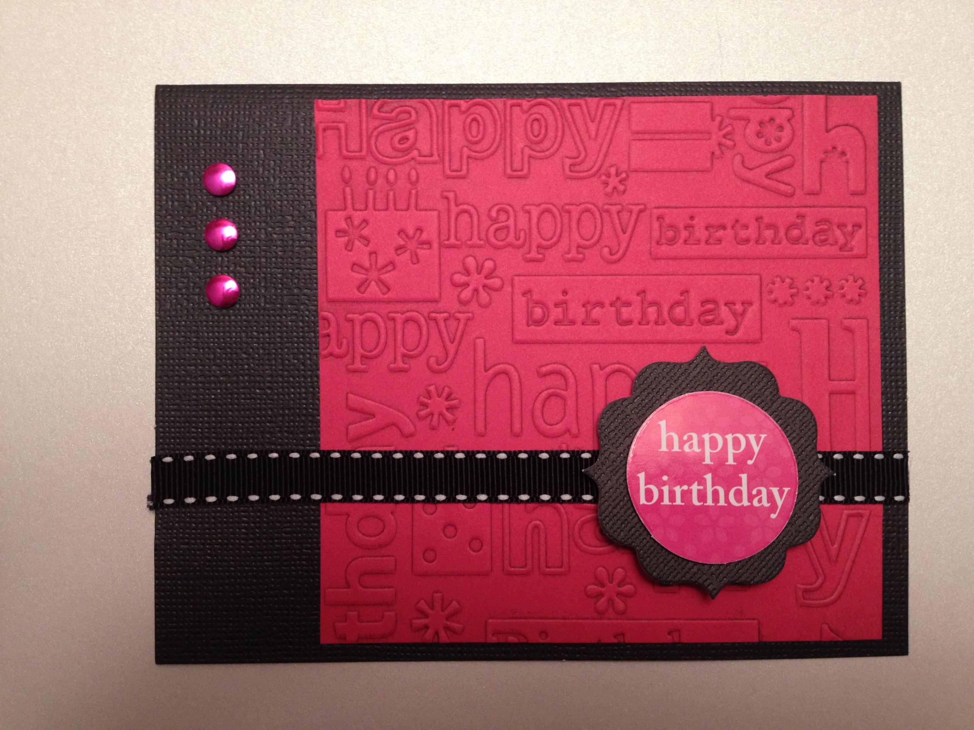Card Making Ideas Using Cuttlebug Part - 23: Handmade Birthday Card Using My Cuttlebug :)
