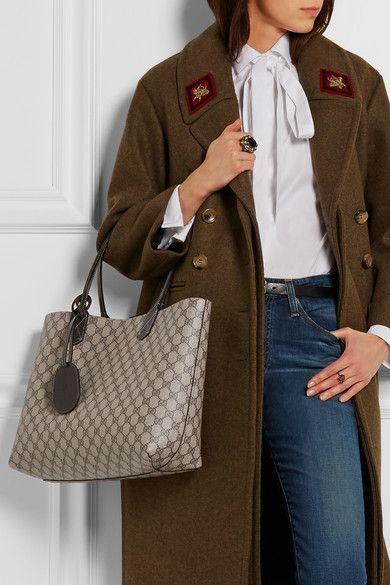 77680c57d2c4 Gucci | Turnaround medium reversible bonded leather tote | NET-A-PORTER.COM