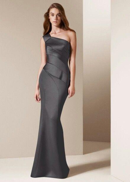471265ca36 David s bridal dark gray bridesmaid dress. Nice
