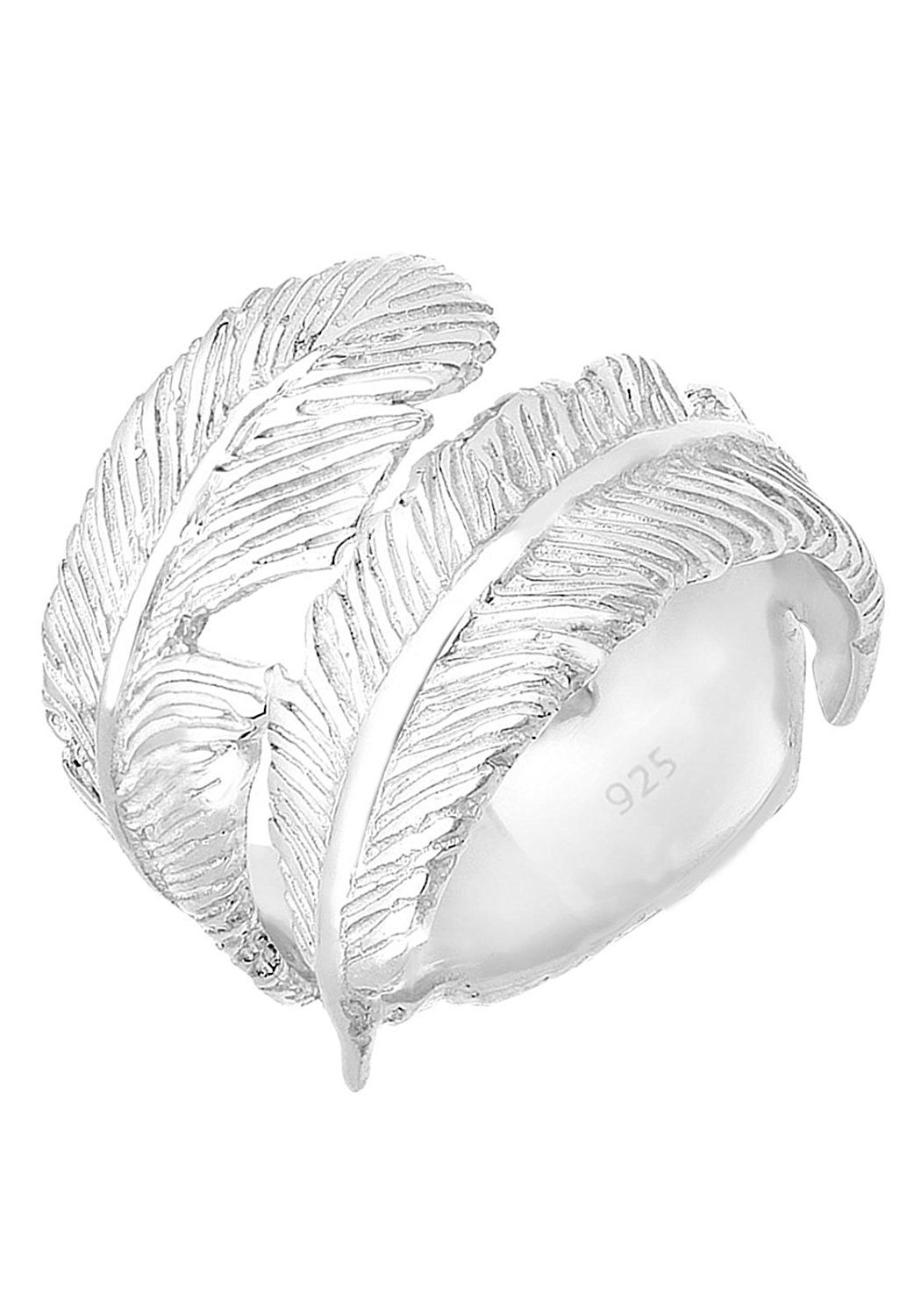 Elli Women Genuine Jewellery Rings Wrapped Nature Leaf 925 Sterling Silver Adjustable Ring Sizes M N P Q ds2DOjV