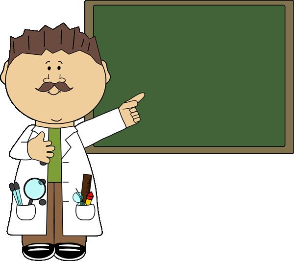 teacher pointing to chalkboard clip art image man science teacher rh pinterest com female science teacher clipart Scientist Clip Art