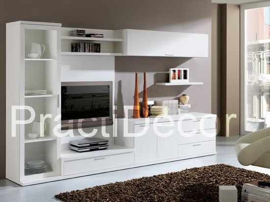 Ideas de modelos de amoblamientos modulares para sala tv for Muebles modulares living
